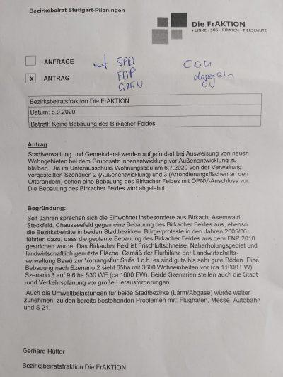Antrag der FrAKTION der Linken