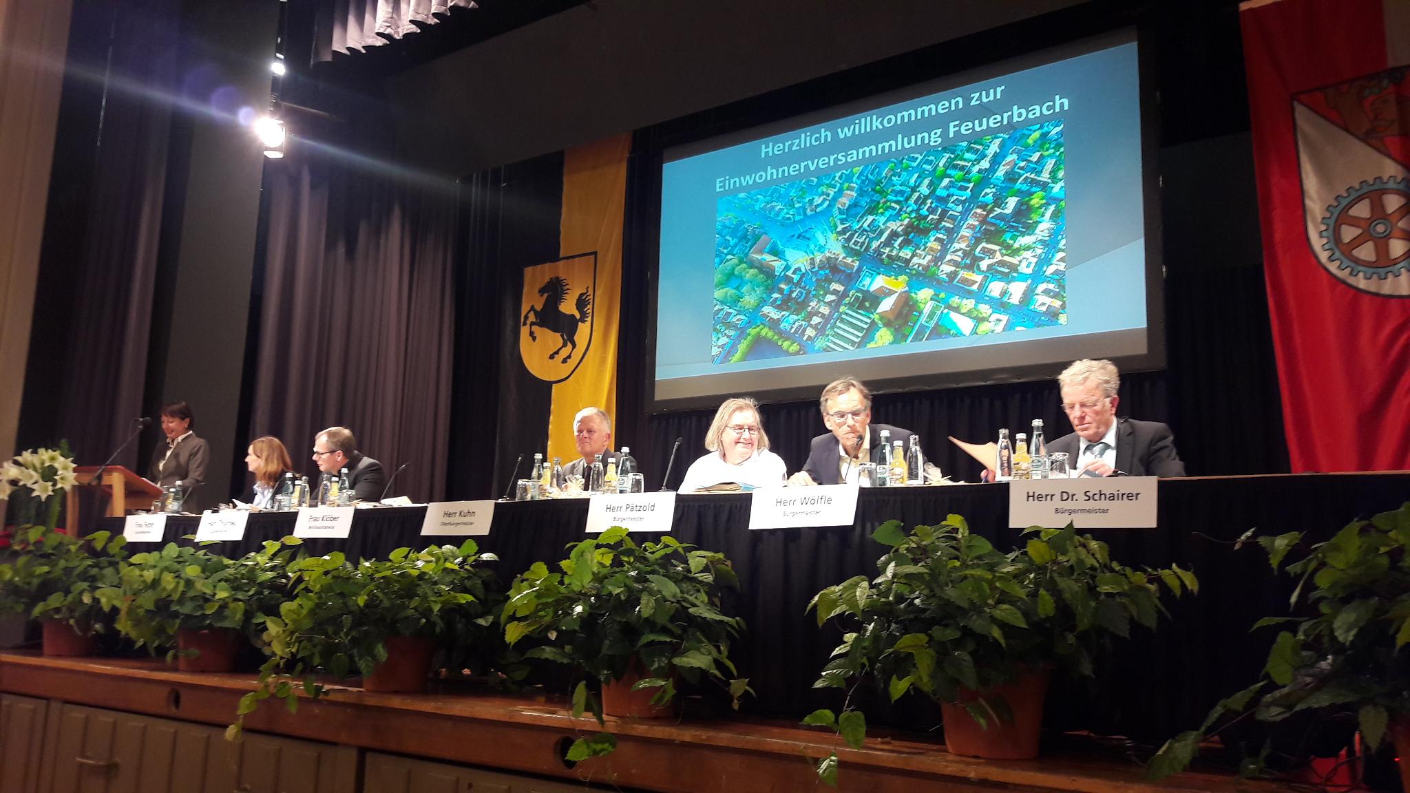 Feuerbacher Einwohnerversammlung 2017