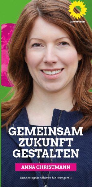Bundestagskandidatin Dr. Anna Christmann (Wahlkreis Stuttgart II)