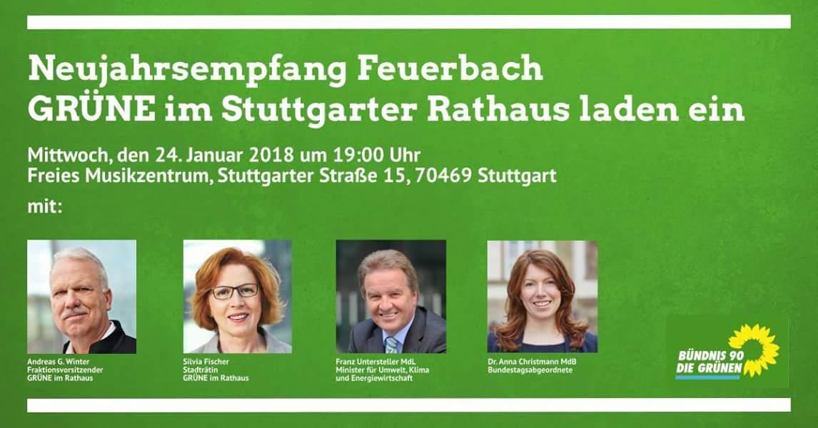 Neujahresempfang der Grünen 2018 in Feuerbach von der Rathausfraktion