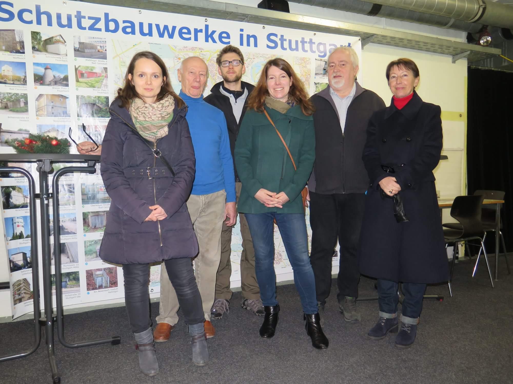 Dr. Anna Christmann besucht die Schutzbauten in Feuerbach