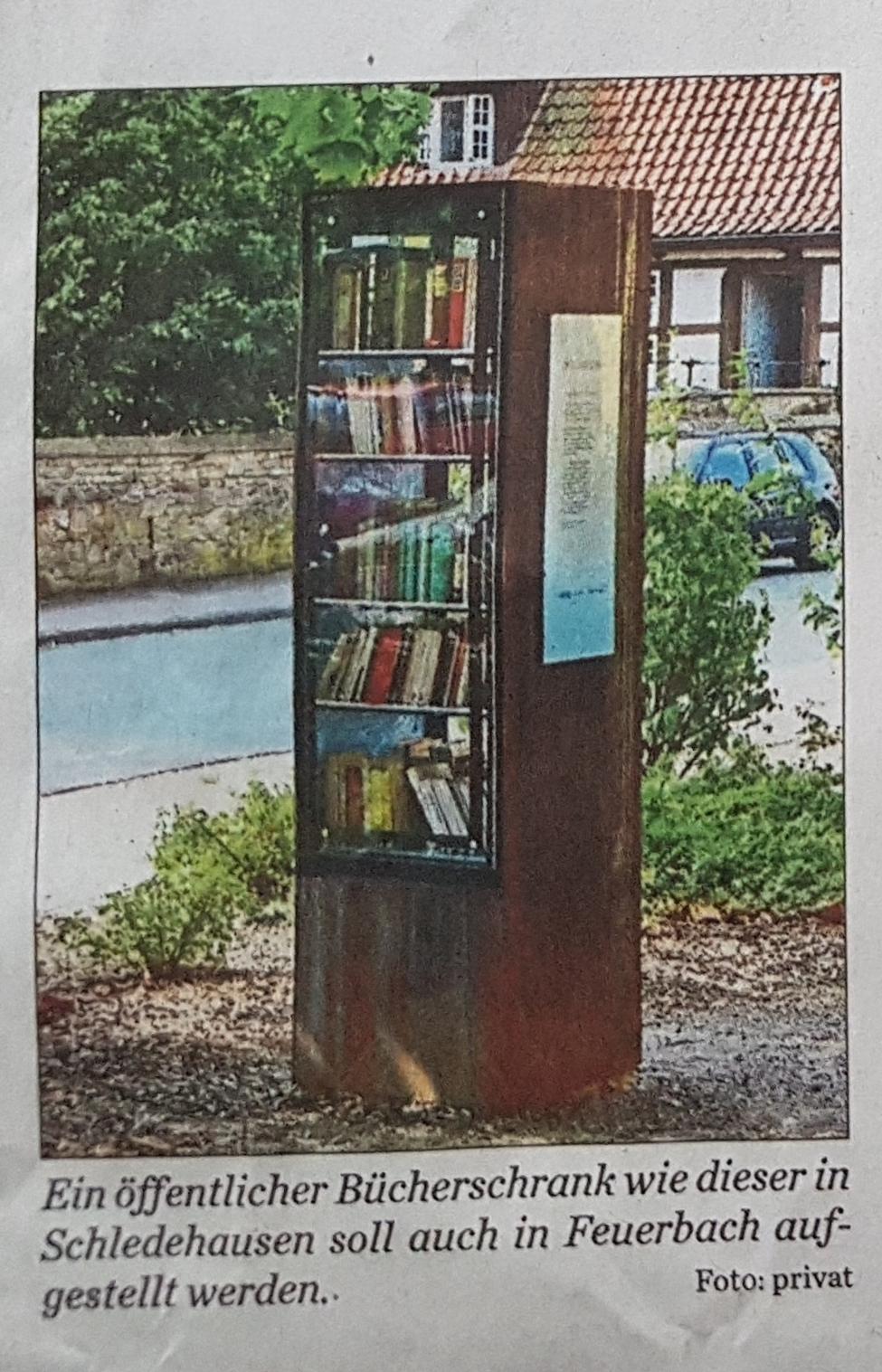 Ein Bücherschrank im öffentlichen Raum für Feuerbach