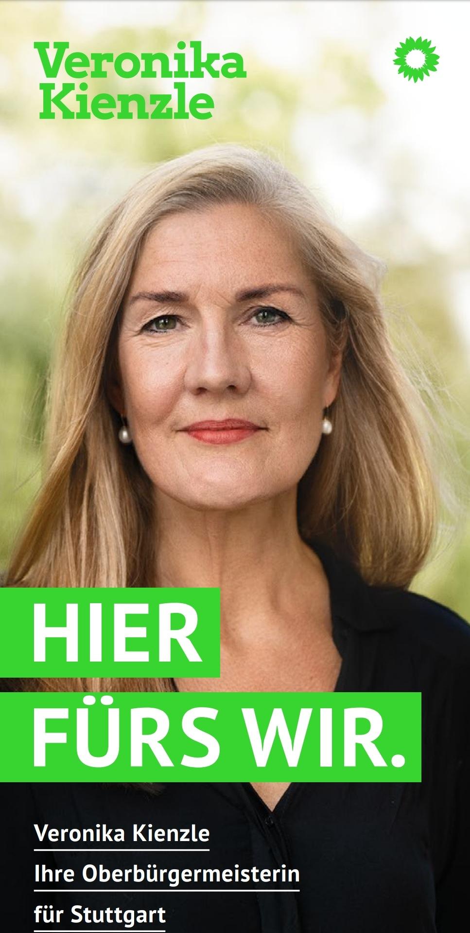 OB-Wahlkampf Flyer von Veronika Kienzle