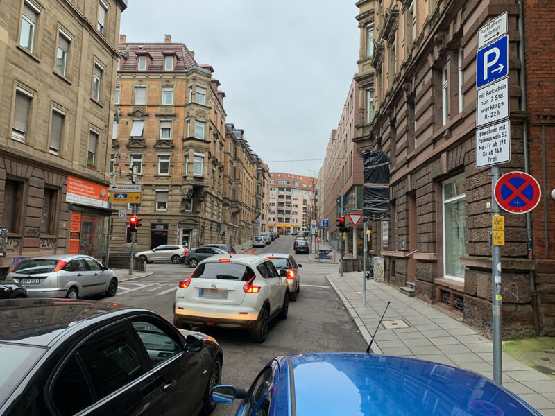 Verkehrsführung Kolbstraße